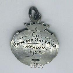 Antique Art Deco Sterling Silver Championship Cat Watch Fob Awards Médaille 1925