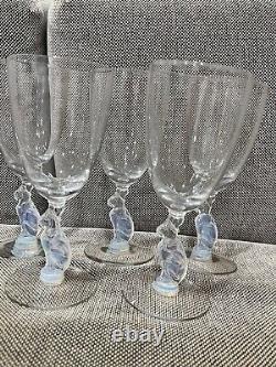 Antique Deco Douglas Nash Pour Libbey Silhouette Line Cat Set De 9 Lunettes Goblet