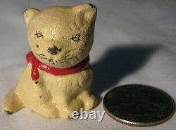 Antique Solid Cast Iron Kitty Kitten Cat Desk Art Paperweight Hubley Déco