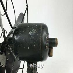 Antique Vintage Années 1930 Ge Non-oscillating Fan Cat 19x257 Art Déco Testé & Travaux
