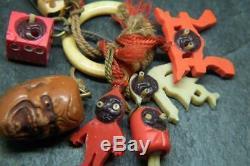 Antiquités Art Déco Japonaises Japonaises Kobe Des Années 1930 Ouvrent Les Yeux / Charme Sculpté