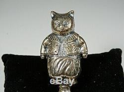 Argent Massif (. 925) Cat Hochet Figure 30 Gram's