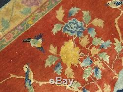 Art Antique Chinois Déco Cat Tapis Taille 10'10''x5'4'