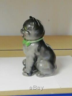Art Déco En Céramique Chat Louis Wain