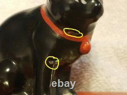 Ashtray Antique De Chat Noir De Noritake Fabriqué Au Japon Collection Peinte À La Main