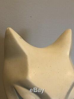 Austin Productionsmagiclimestone Sculpture Cat Par Alexander Danel 1990 Rare