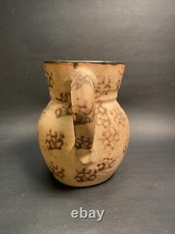 Authentique Kentucky Cats Paw Stoneware Pitcher Bell City Pottery Handmade Pre1940
