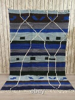 Azilal Berber Rug Vintage Authentic Rug Marocain Rug Area Handmade Wool Rug