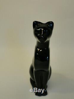 Baccarat Cristal Noir Salon Style De Chat Égyptien Figure Paperweight Zd3-14