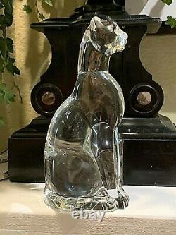 Baccarat Crystal Cat Figurine Chat Égyptien 2601087. Élégant. 6.25