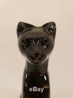 Baccarat Français Cristal Cristal Noir Chat Assis Figurine