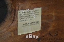 Banc Art Déco Vintage En Fonte Avec Chats De Combat Arqués