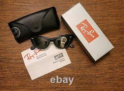 Bausch & Lomb Ray Ban Lisbon W0959 USA Cats Black Frame Avec Case Vtg B&l New