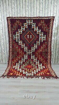 Beni Ourain Rug Vintage Authentique Tapis Berbère Marocain Handmade Tapis Laine