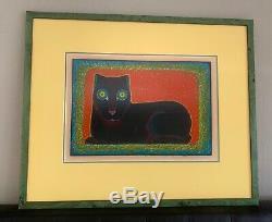 Beniamino (benny) Bufano, Cat Press Club, Limited Edition Impr Écran # 39/100
