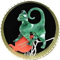 Bnib Erstwilder On The Prowl Cat Art Déco Broche Rare Ltd Ed. Royaume-uni Vendeur