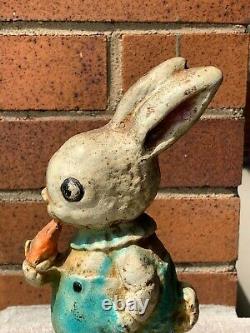 C'est L'antique Hubley Cat. #86 Cast Iron Peter Rabbit Doorstop