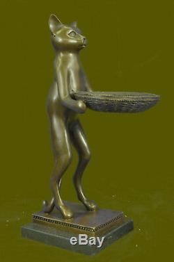 Cadeau De Noël Parfait Art Déco Fait À La Main, Grand Chat, Sculpture De Chats De Grande Taille