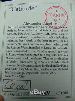 Carus Alexsander Danel Art Déco Cstitude Chat En Bronze 1995