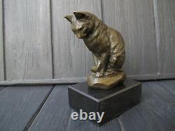 Cat Kitten Bronze Sculpture Art Déco Bronze
