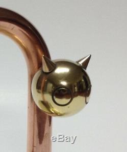 Cat Sculpture Walter Von Nessen Art Deco Mixte 1930 Métal Chase Arrêt De Porte
