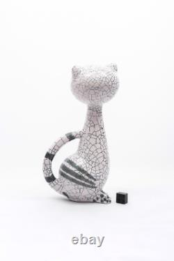 Chat Assis Livia Gorka Céramique Vieille Poterie De Four Figurine Art Déco