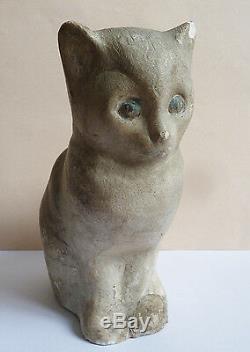 Chat Chaton Statuette Statue De Félix Fevola (1882-1953) Art Déco Vers 1930 Cat