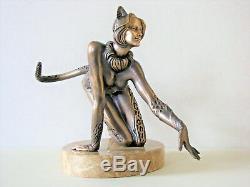 Chat Et Souris Sculpture De Bronze, Sculpture Original Auteur Livraison Dans Le Monde