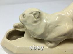 Chat Lampe Ceramique Art Déco Vers 1930 Antique Lamp Cat Ceramic