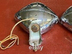 Chats Vintage Eye Fog Lumière Paire B-l-c 4-1 / 2 Modèle 2020a Art Déco Chevy Bombe