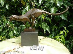 Cheetah Sprintant, Statue En Bronze Pur Animal Figure Sculpture Cat Hot Cast