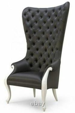 Christopher Guy Elysées High Back Diamond Tufted Chaise Noir Et Blanc (ensemble De 2)