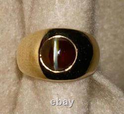 Chrysoberyl Cats Eye Ring 14k Gold, J. E. Caldwell & Co, Vintage 1930 (rr1-h)