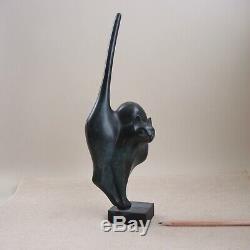 Claude Lhoste Bronze Moderniste Bronze Chat Paris Art Déco Sculpture Daum Artiste