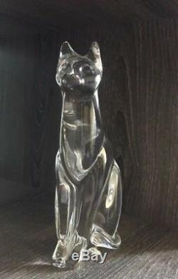 Daum France Chat Égyptien En Verre Figurine