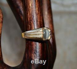 Domaine Art Déco Cats Eye Chrysoberyl Or Taille De La Bague De 10