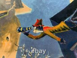 Dr. Seuss Art Secret Cat Detective Dans La Mauvaise Partie De La Ville Limitée Ed. 850