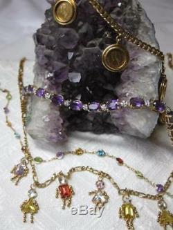 E. Wolfe & Co. Broche Chat Art Déco Saphir Rubis Diamant Reine Alexandra
