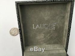 Effacer Authentique Lalique Cat Chat Satin Cristal Broche Nouvelle Boîte Originale, Rare