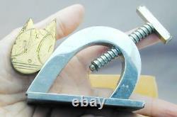 Fab Art Déco Figural Chat Cracker Nut Super Neat Chrome
