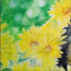 Fait À La Main Aquarelle Sur Papier Art Décoration Propylène Chrysanthem Peinture Cat