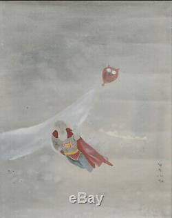 Fait À La Main Aquarelle Sur Papier Art Décoration Propylène Superman Peinture