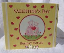 Fenton Vacances Verre Valentine's Parade Rosalene Ensemble De 2 Chatons Qvc # Co3566