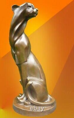 Figurine Cubiste De Chat Cubiste De Statue De Guépard De Bronze De Fonte Chaude