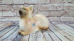 Goldscheider Everlast Corp Art Antique Déco Cat Allemand Siamois Graphique