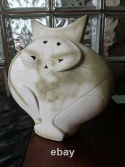 Grand Chat Moulé 11 Après Mary Gates Dewey Studio Art Déco Pottery Sculpture