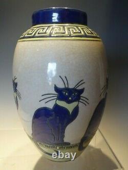 Grand Vase De Fleur De Chat De Modèle D'art Déco