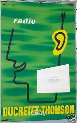 Guy Georget Affiche Vintage Radio Ducretet Thomson Circa 1960-1965