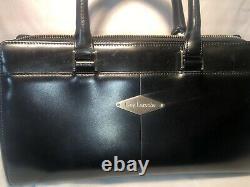 Guy Laroche Paris Couture Sac À Main En Cuir Noir Purse Kelly Bag Runway Vtg Rare