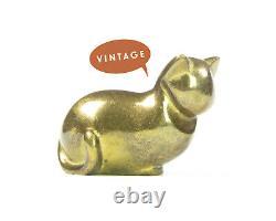 Hagenauer Cat Figurine Whw Autriche Moderniste Brass Kitty MID Century Art Déco